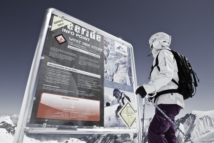 freeride info point including safe snow conditions and avalanche risk | © Kitzsteinhorn