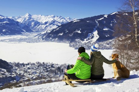 View when sledging on Mitterberg | © Zell am See-Kaprun Tourismus