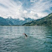 Swimmer in Lake Zell | © Jakob Edholm