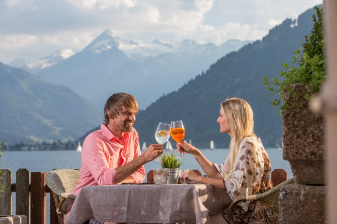 romantic dinner with sea view in zell am See | © Faistauer Photography