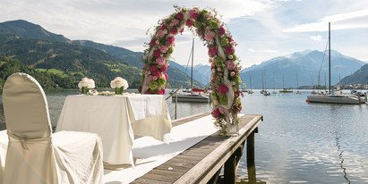 Lake Zell the perfect wedding location | © Schloss Prielau