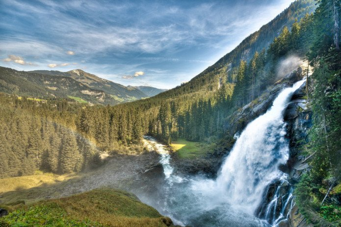 highest waterfalls of Europe | © Zell am See-Kaprun Tourismus