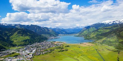 Schüttdorf and Lake Zell from above | © Zell am See-Kaprun Tourismus