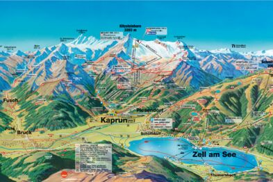 Map Of Zell Germany.Logo Themes Panorama Maps Zell Am See Kaprun