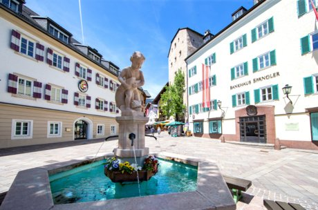 City fountain Zell am See | © Faistauer Photography