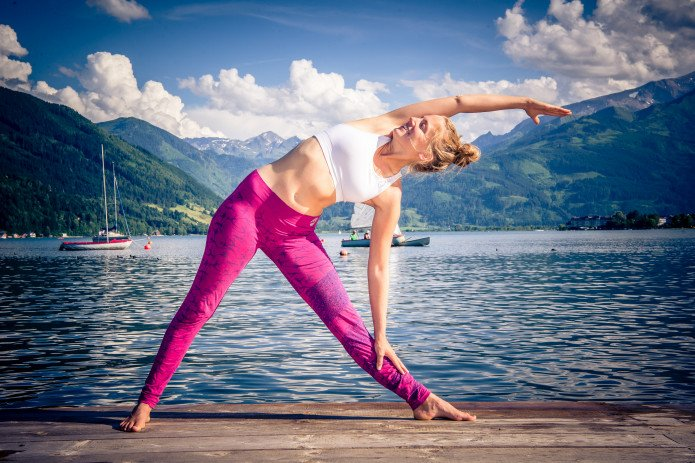 Yoga at the Zeller lake | © Edith Danzer