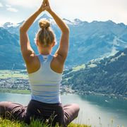 Yoga with panorama in Zell am See-Kaprun | © Edith Danzer