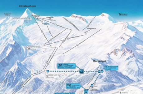 Overview of the ski resorts Maiskogel and Kitzsteinhorn | © Kitzsteinhorn