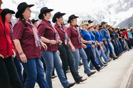 Line Dance World Record in Austria, SalzburgerLand | © Zell am See-Kaprun Tourismus/ Artisual