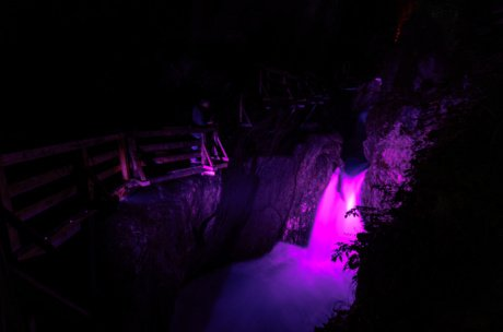 Holiday-highlight in Zell am See-Kaprun: Gorge(ous) lights | © Zell am See-Kaprun/ Dominik Wartbichler