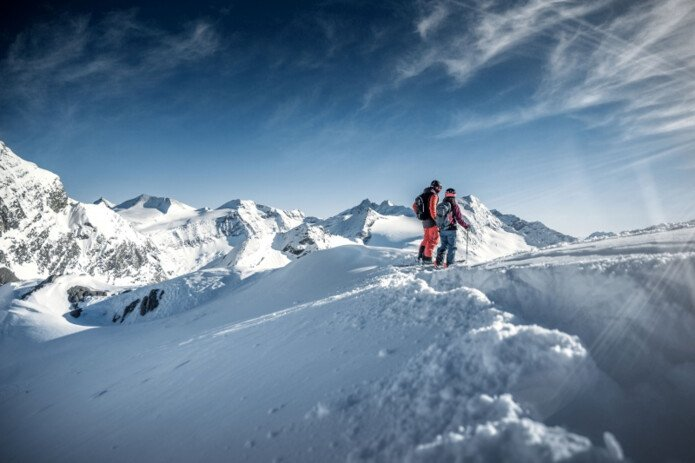 guided freeride tour on the glacier Kitzsteinhorn  | © Kitzsteinhorn