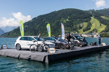 E cars on lake Zell | © ionica.energy