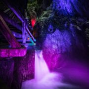 colourful lights in the Sigmund Thun Klamm  | © EXPA-FEI pictures