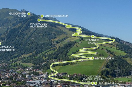 Route of the hiking bus | © Kitzsteinhorn