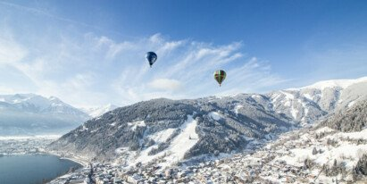 hot air balloons above Zell am See | © Zell am See-Kaprun Tourismus