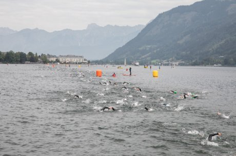 Ironman 70.3 - Swim Start in Zell am See | © Zell am See-Kaprun Tourismus