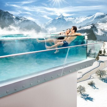 In winter and in summer: the thermal bath Tauern Spa in Zell am See-Kaprun is always a good idea! | © TAUERN SPA WORLD Betriebs GmbH & Co KG