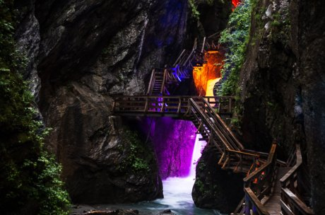 Gorge in Zell am See-Kaprun with special events | © EXPA JFK