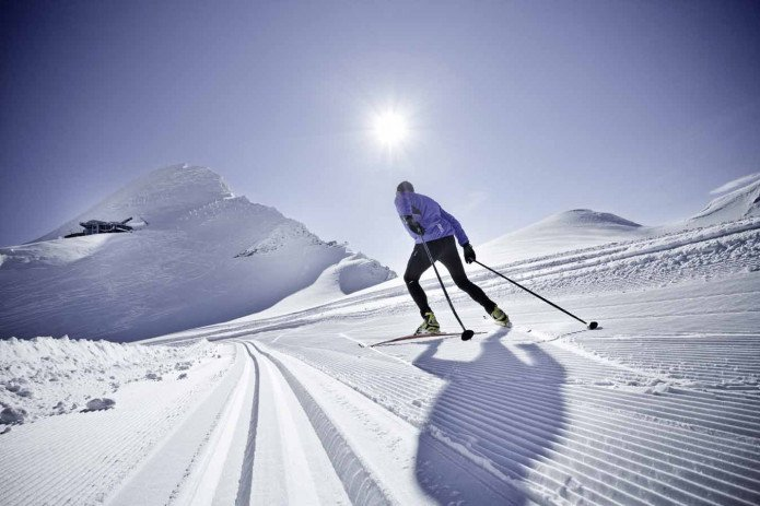 Cross Country skier on the high alpine cross country ski track | © ideenwerk werbeagentur gmbh