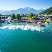 Start and finish of the swimming course at lido Seespitz   © Steinthaler