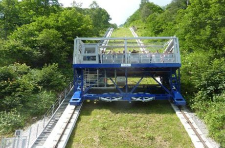biggest open inclined lift of Europe | © Verbund