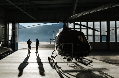 helicopter before the start | © Marko Roth