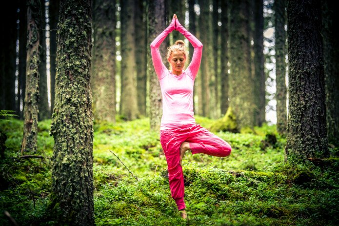 Yoga in the forests of Zell am See-Kaprun | © Edith Danzer