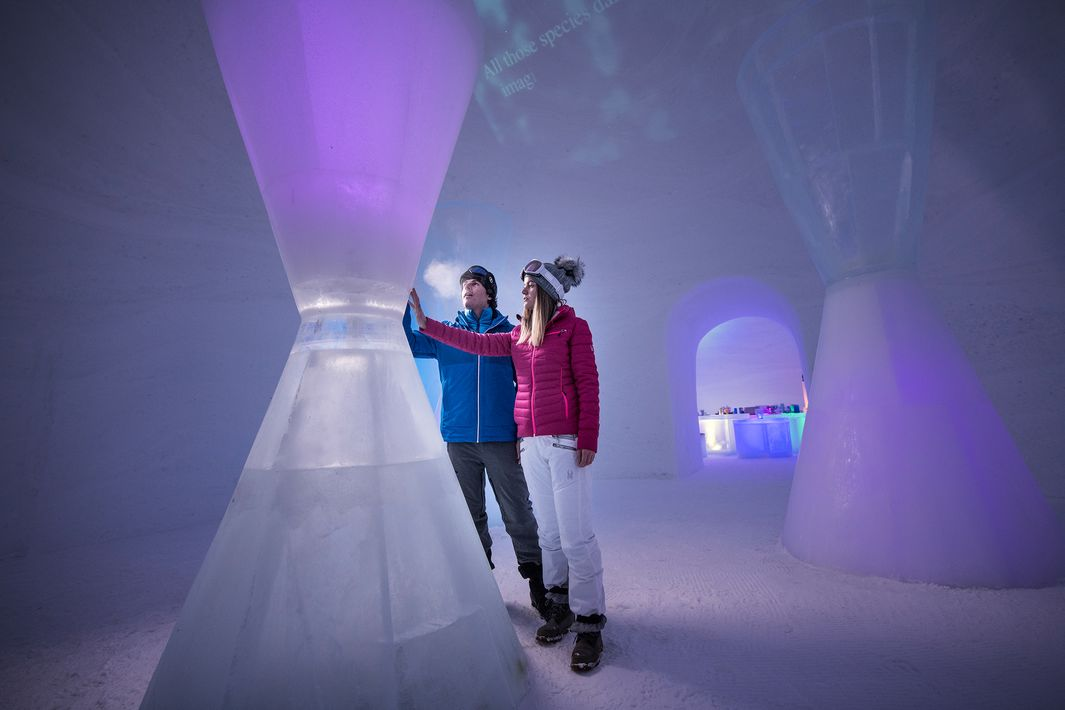 presented by Audi Quattro on the glacier in Zell am See-Kaprun   © Zell am See-Kaprun Tourismus