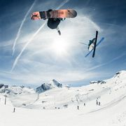 Snowpark in the glacier ski resort Kitzsteinhorn | © Kitzsteinhorn