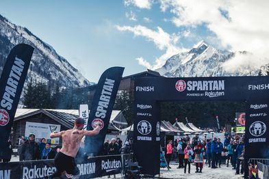 Goal area Winter Spartan Race | © Zell am See-Kaprun