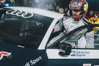 Marcel Hirscher with Audi S1 | © Marcel Hirscher was behind the wheel of the Audi S1 and performed spectacular laps on the ice track