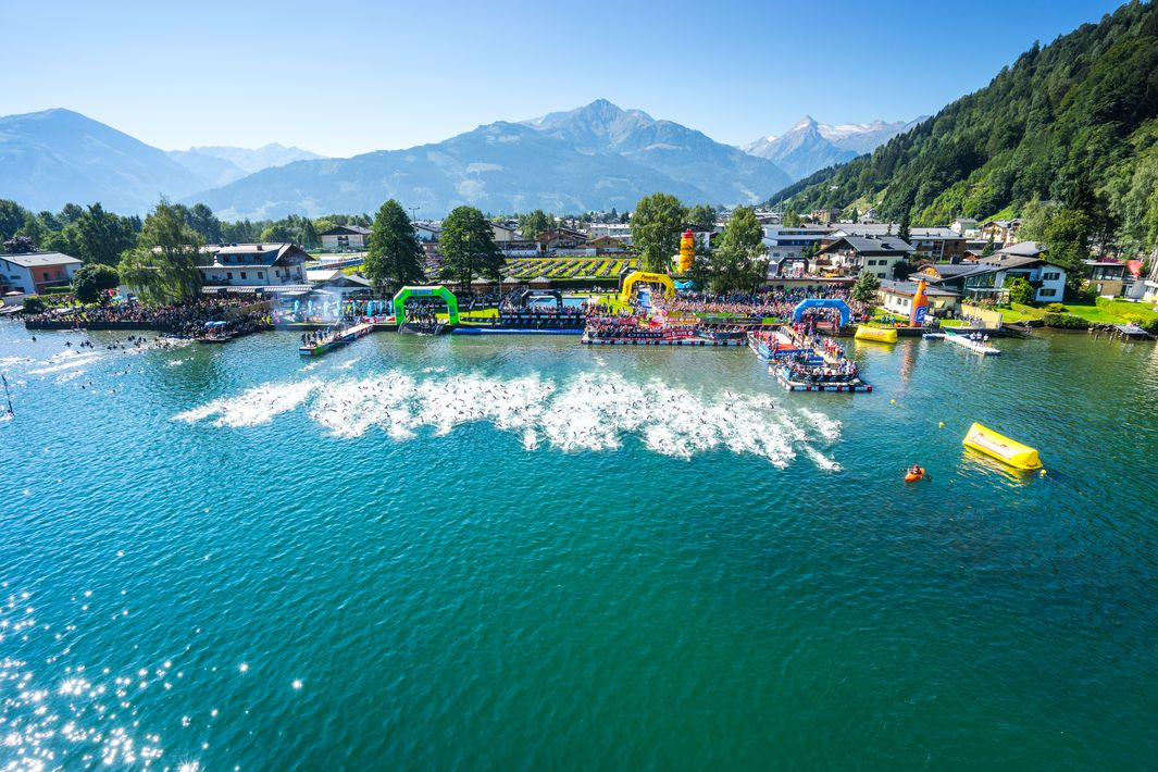 Start and finish of the swimming course at lido Seespitz | © Steinthaler