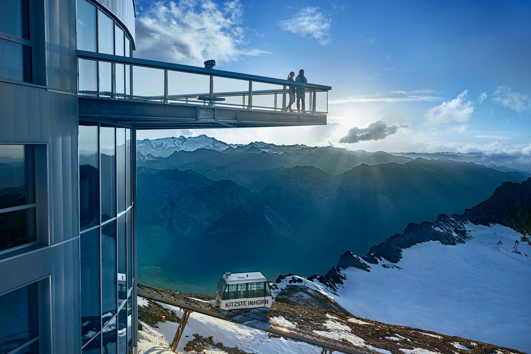 Viewing platform at 3,029 metres above sea level in Zell am See-Kaprun | © Kitzsteinhorn