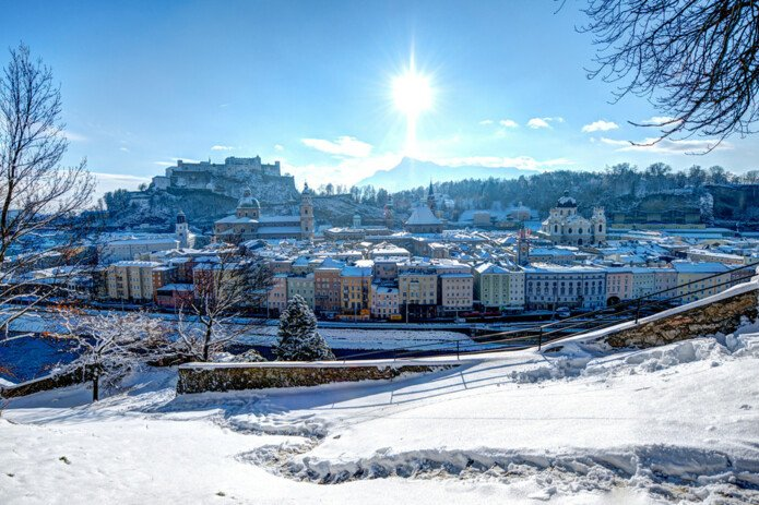 City of Salzburg covered with snow | © Salzburger Land Tourismus
