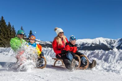 Sledging | winter holidays for the whole family | © Nikolaus Faistauer Photography