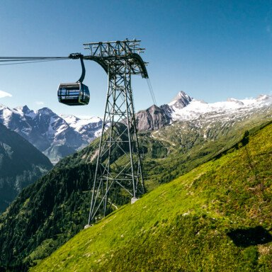 Cable car to the glacier in summer | © Kitzsteinhorn